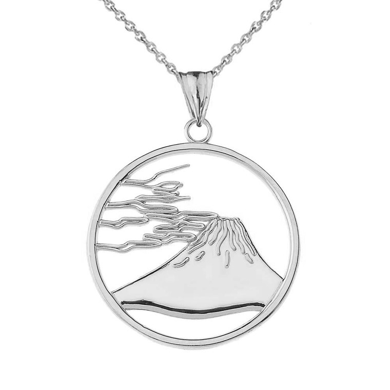 Mount Fuji Pendant Necklace in Sterling Silver