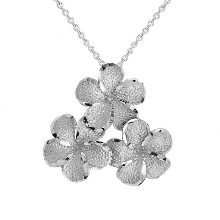 Plumeria Flowers in Sterling Silver