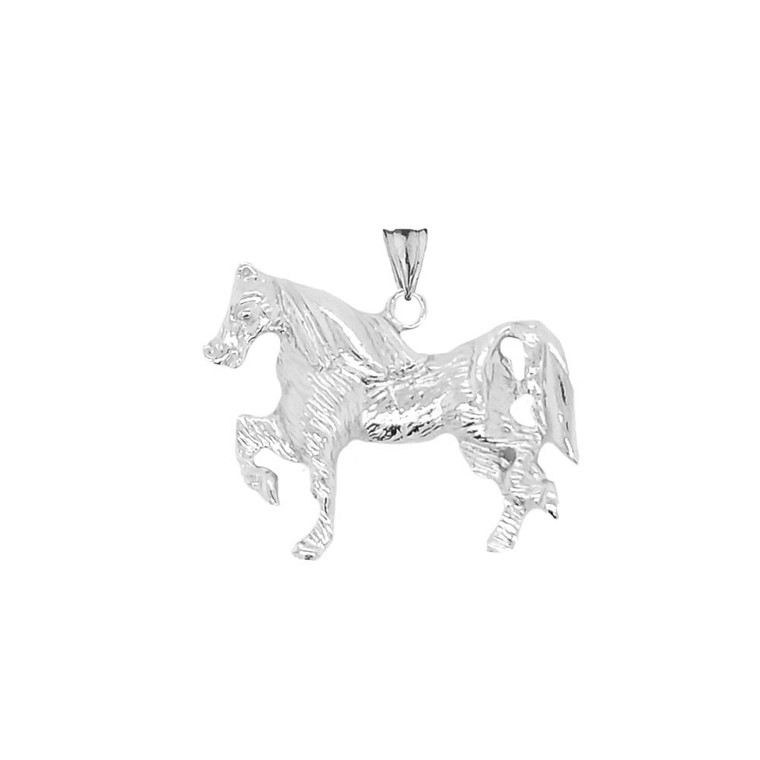 Stallion Pendant Necklace In Sterling Silver
