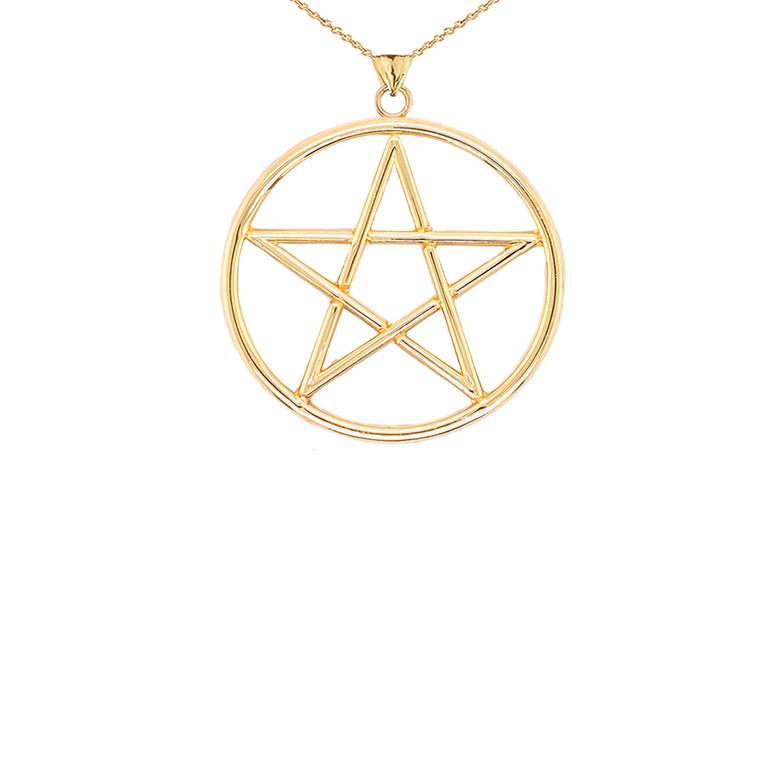 Small Pentagram Pendant in Gold (Yellow/Rose/White)