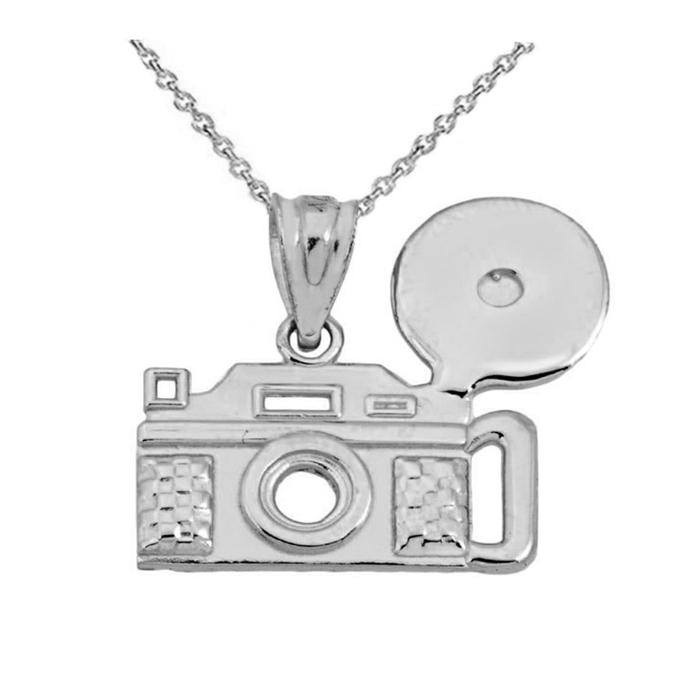 Vintage Camera  pendant necklace in Sterling Silver