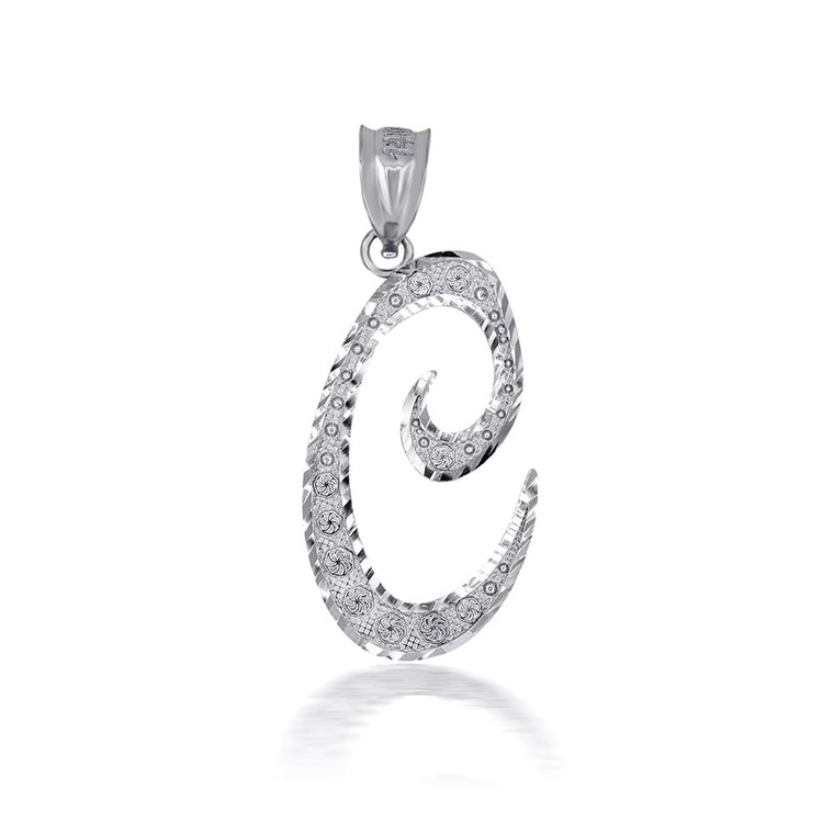"Sterling Silver Cursive Initial Letter ""C"" Pendant/Necklace"