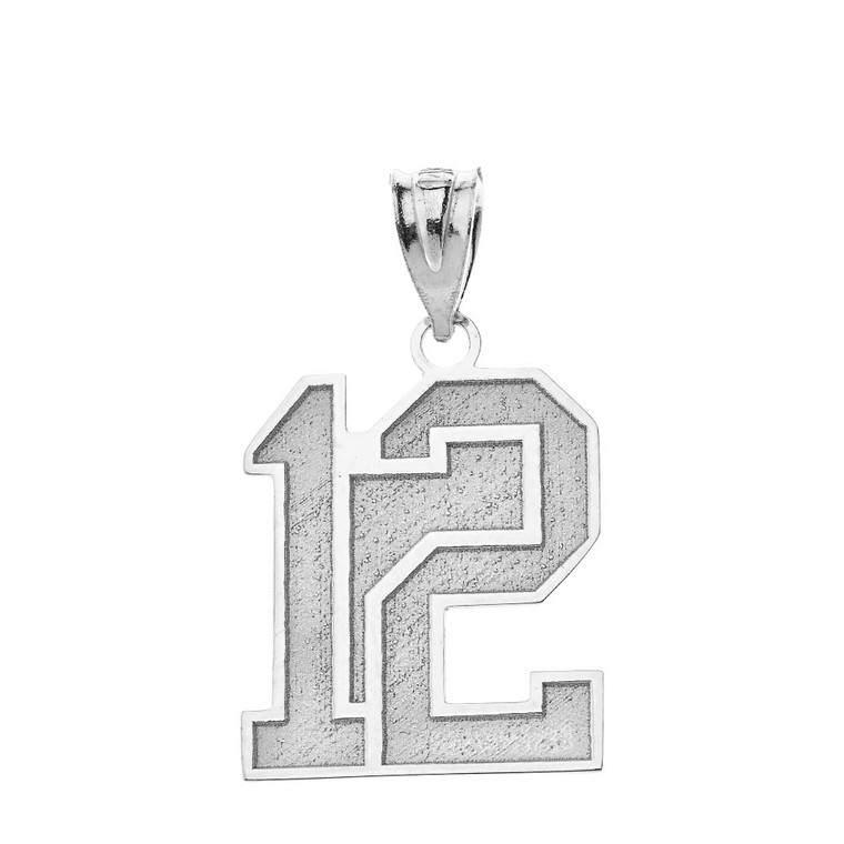 Personalized Engravable Silver Jersey Two-Digit Charm Necklace With Your Number And Name
