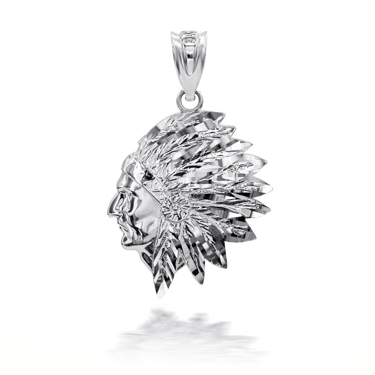 Sterling Silver Native American Apache 3D Charm Necklace