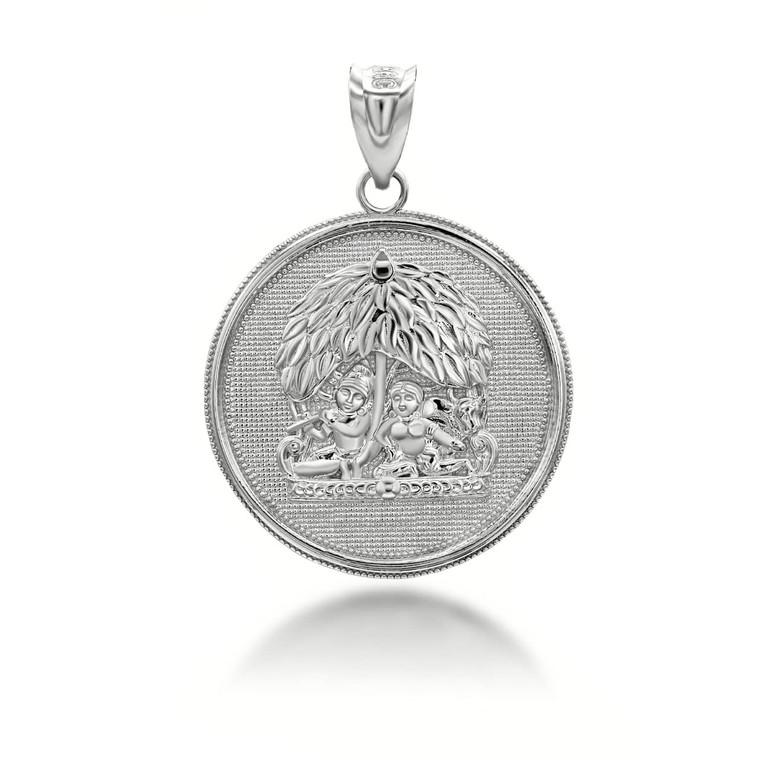 silver-radha-lord-krishna-indian-hindu-god-and-goddess-under-kadamba-tree-coin-medallion-pendant-necklace