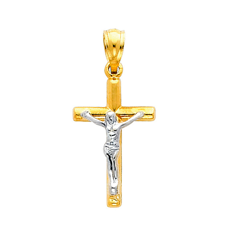 14K Two-Tone Glorious Crucifix
