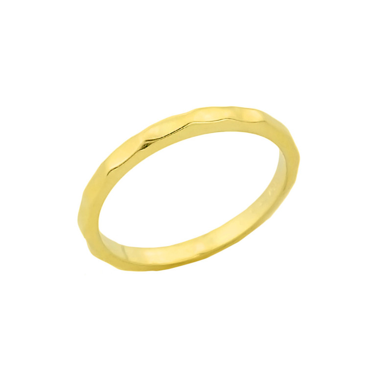Gold Hammered Toe Ring