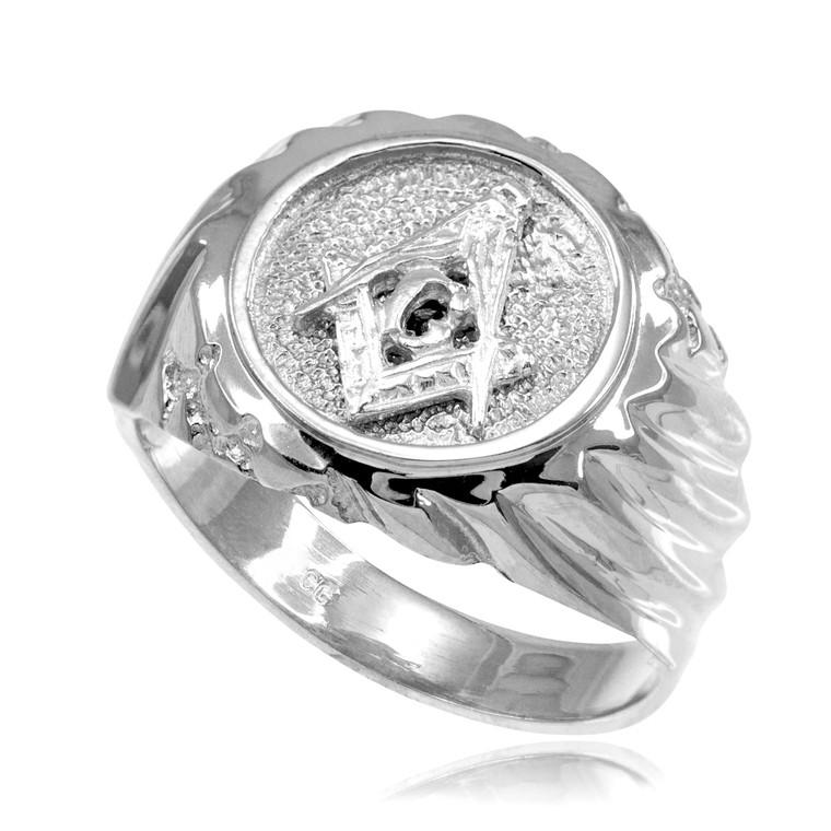 Silver Masonic Men's Ring