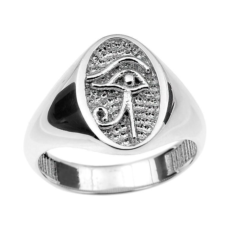 Sterling Silver Eye of Horus Ring