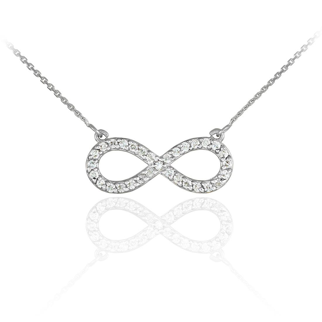 59c0334408f8c Diamond Infinity Necklaces