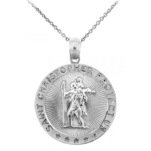 Religious Pendants The Saint Christopher Protect Us