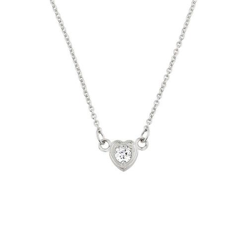 14k gold diamond dainty heart necklace. Black Bedroom Furniture Sets. Home Design Ideas