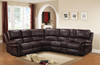 Sierra Chocolate Reclining 7 Piece Sectional
