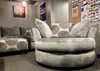 LUXURY SMOKE GRAY SWIVEL POD CHAIR