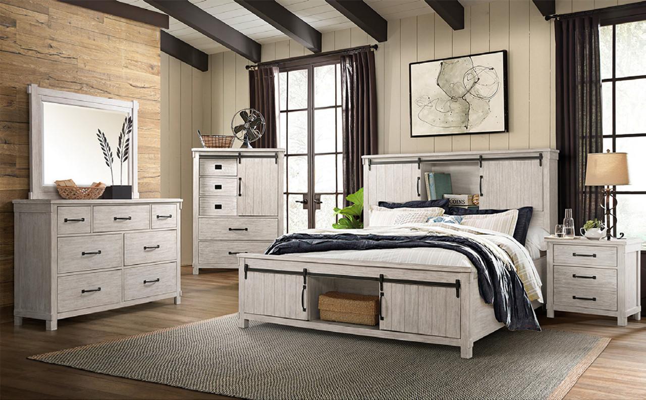 Luxury Mattress And Furniture Scott White Storage Bedroom