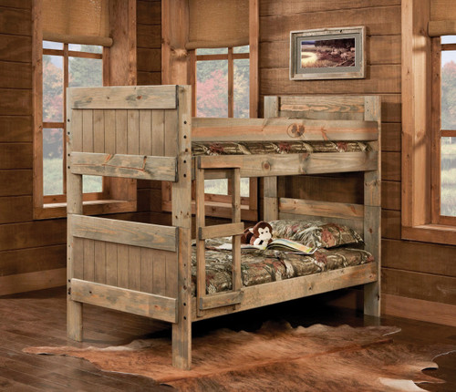 Mossy Oak Twin/Twin Bunkbed with Ladder