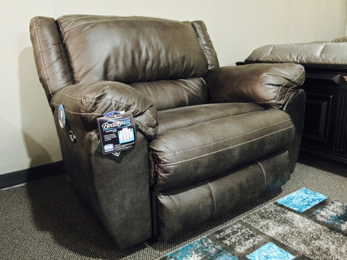 Granite Grey Beautyrest Cuddler Recliner