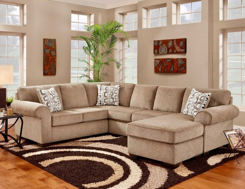 Luxury Cocoa 3 Piece Sectional Set