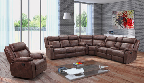 Buckskin Luxury 3 Piece Reclining Sectional