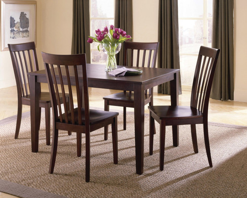 Chocolate Brown 5 Piece Dining Set