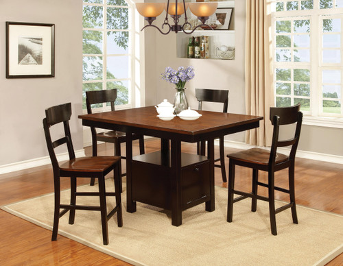 Black & Cherry 5 Piece Pub Dining Set