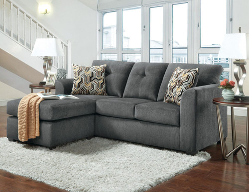 Luxury Gray Chofa (Sofa with Chaise)