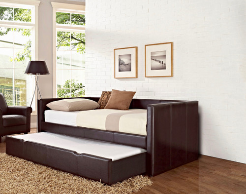 Natalie Upholstered Twin/Twin Daybed with Trundle