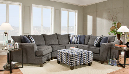 Luxury Slate 3 Piece Sectional Set