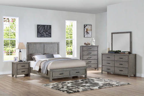 Compland Gray Storage Bedroom