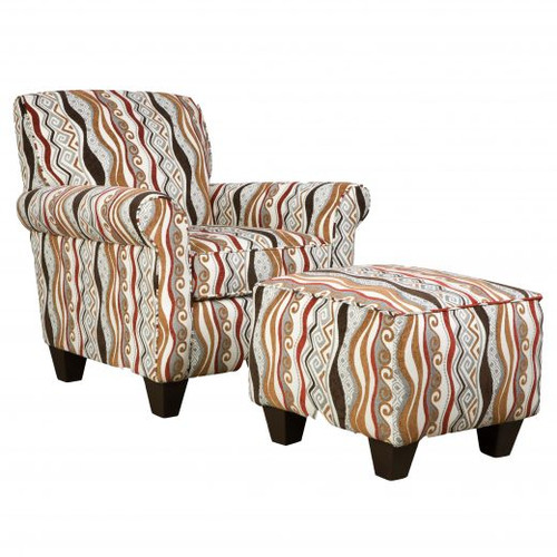 Casino Multi Accent Chair & Ottoman
