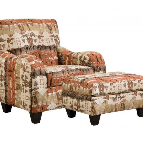Reflection Lava Accent Chair & Ottoman