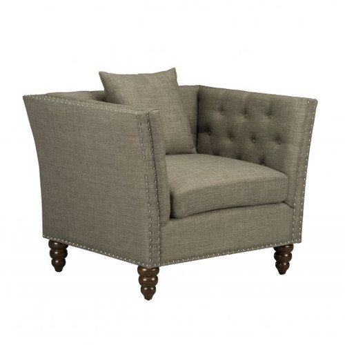 Luxury Linen Accent Chair