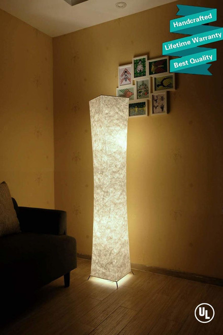 Luxury Fabric 61'' Creative LED Floor Lamp