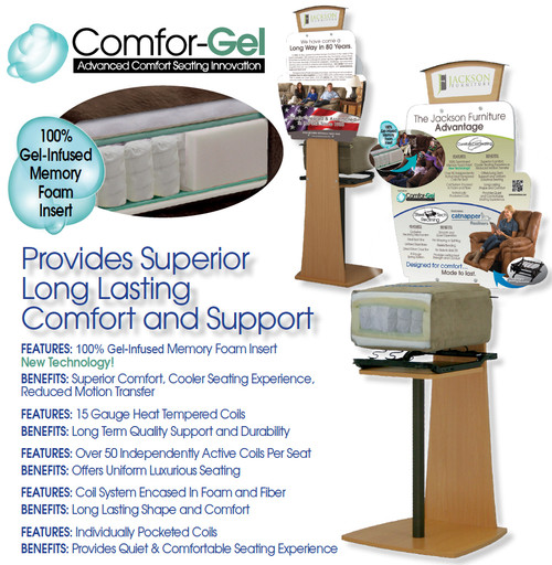 Comfort Gel Seating Experience by Jackson Catnapper!