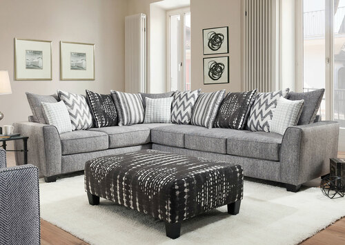 Stonewash Luxury 2 Piece Sectional