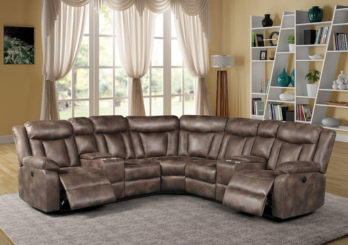 Adobe 3 Piece Reclining Sectional