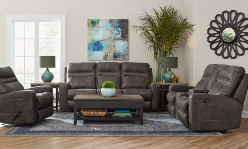 Durham Charcoal Reclining Collection