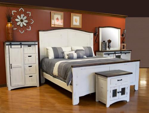 Wind Creek White Bedroom