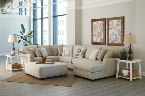 Middleton Luxury 3 Piece Sectional with Ottoman