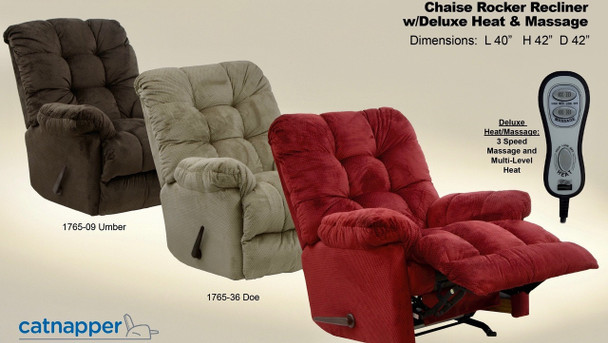 Nettles Heat & Massage Rocker Recliner