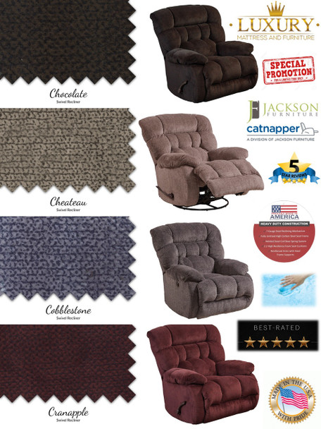 DALY RECLINER WITH SWIVEL, GLIDE & LAYFLAT! OUR BEST SELLING RECLINER OF THE YEAR! GET YOURS TODAY, DON'T MISS OUT!