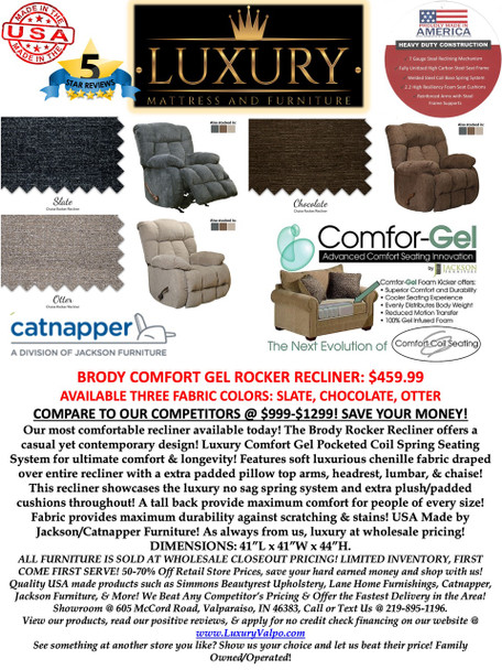 Catnapper Brody Comfort Gel Rocker Recliner
