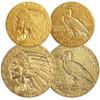 U.S. 1908-1929 Indian Head $2 1/2 & $5 Gold Extra Fine Pair