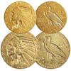 1908-1929 Indian Head $2 1/2 & $5 Gold Extra Fine Pair