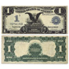 1899 Black Eagle $1 Silver Banknote Certificate Very Good Image 1
