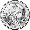 2011-P Glacier National Park Quarter Brilliant Uncirculated Image 1
