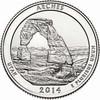 2014-P Arches National Park Quarter Brilliant Uncirculated Image 1