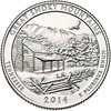 2014-D Great Smoky Mountains National Park Quarter Brilliant Uncirculated Image 1