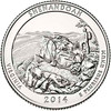 2014-D Shenandoah National Park Quarter Brilliant Uncirculated Image 1