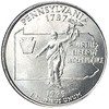 1999-D Pennsylvania Quarter Brilliant Uncirculated Image 1